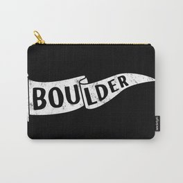 Boulder Colorado Pennant Flag B&W // University College Dorm Room Graphic Design Decor Black & White Carry-All Pouch
