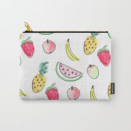 tutti fruitti watercolour pattern Carry-All Pouch
