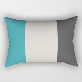 Nautical Flag, Letter T (Charcoal Black, Sea Turquoise, Cream) Rectangular Pillow