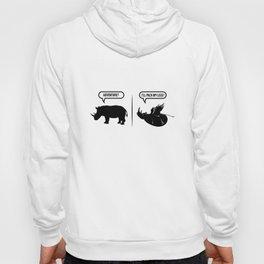 Adventure? I'll Pack My Legs Flying Rhino Meme T-Shirt Hoody