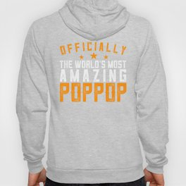 Officially Amazing Poppop Fathers Day Gift Idea Hoody
