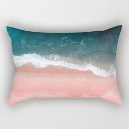 Turquoise Sea Pastel Beach III Rectangular Pillow