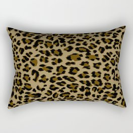 Leopard Print Pattern Rectangular Pillow