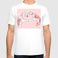 I Heart You MEDIUM White Mens Fitted Tee