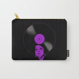 Afrovinyl (Purple) Carry-All Pouch