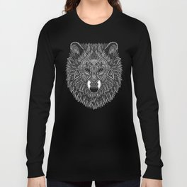 Gray Wolf Long Sleeve T-shirt