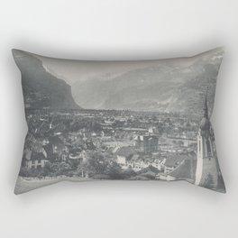 Swiss Town Lithography Rectangular Pillow