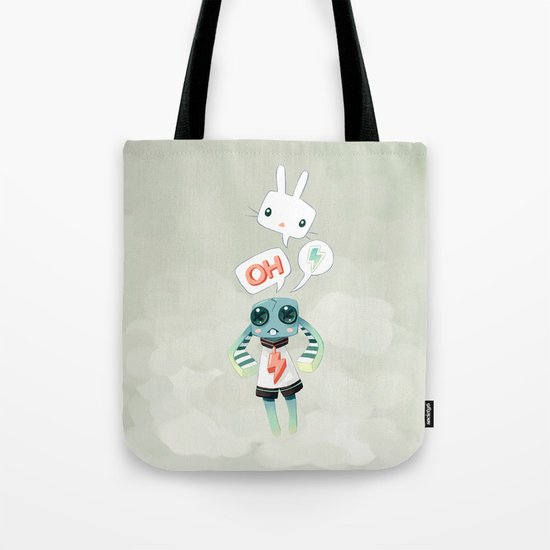 Bunny Doll Tote Bag