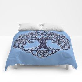 Tree of Life Blue Comforters