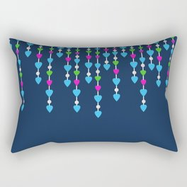 Pearl beads and hearts .  3 Rectangular Pillow