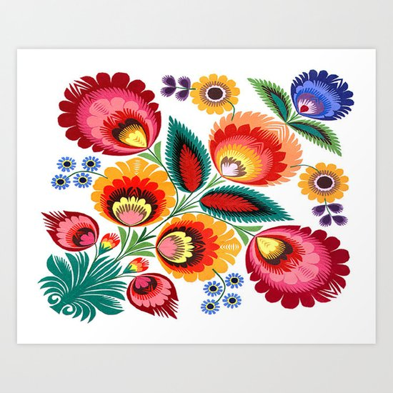 Slavic Folk Pattern Art Print