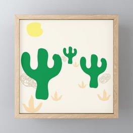 Cactus Desert Framed Mini Art Print