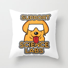 Funny Science Print Nerds Geeks Scientists Print Dog Gift Throw Pillow