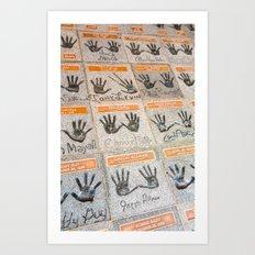 Hollywood hands Art Print