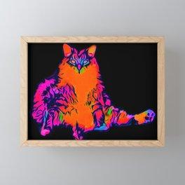 Fat Cat Framed Mini Art Print