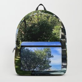 Garden Seat And Headstone  Backpack