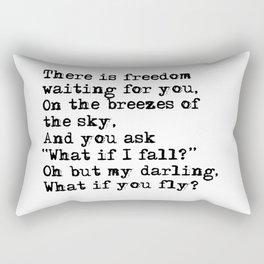 What if you fly? Vintage typewritten Rectangular Pillow