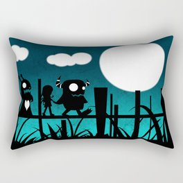 Monsters for Litle Girls 001: Suzanne with Blargh and Veepher Rectangular Pillow