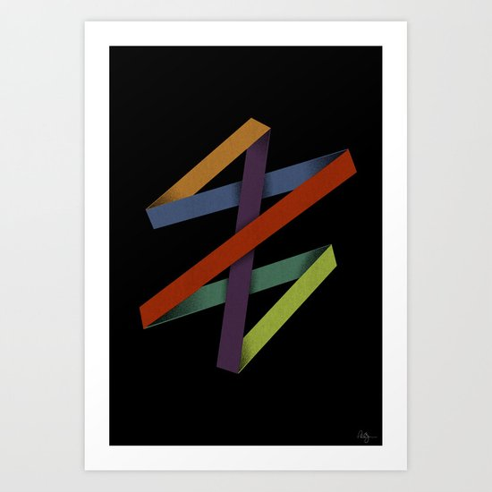 Folded Abstraction Art Print