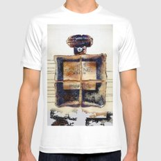 NO.5 BREAD Mens Fitted Tee MEDIUM White