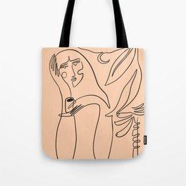 coffee and banana palms Tote Bag