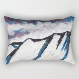 Night Mountain III Rectangular Pillow