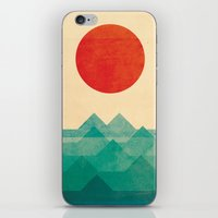 american beauty iPhone & iPod Skins featuring The ocean, the sea, the wave by Picomodi