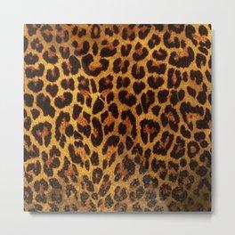 Glitter Leopard Print Metal Print