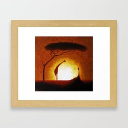 Long Neck Devils Framed Art Print