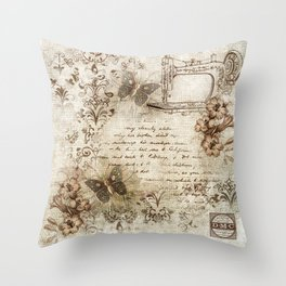 Seamstress Throw Pillow