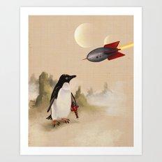 Pulp Penguin Art Print