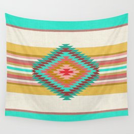 FIESTA (teal) Wall Tapestry
