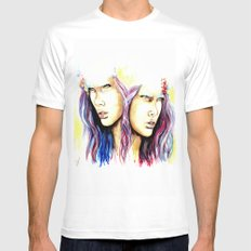 The Oracle Mens Fitted Tee MEDIUM White