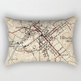 Vintage Map of Blacksburg Virginia (1932) Rectangular Pillow