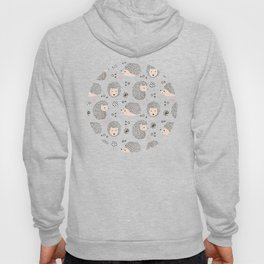 So Many Happy Little Hedgehogs To Hug Pattern Hoody