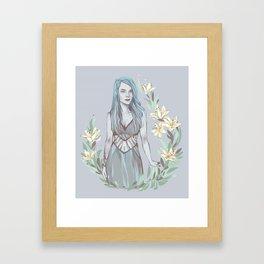 Floral Ghouls - Ghoulia Framed Art Print