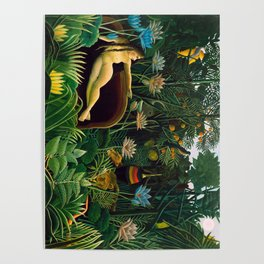 Henri Rousseau - The Dream , 1910 Poster