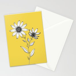 Wildflower line drawing | Botanical Art Stationery Cards