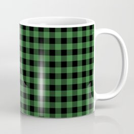 Classic Green Country Cottage Summer Buffalo Plaid Coffee Mug