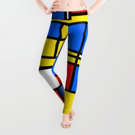 Mondrian Style Leggings