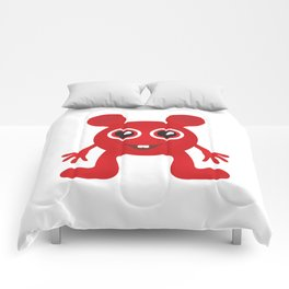 Red Smiley Man Comforters