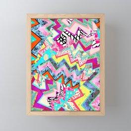Origami Five Pink ZigZags Framed Mini Art Print