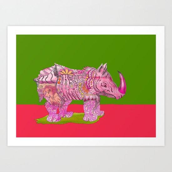 Too Pretty in Pink  Art Print