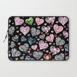 Heart Diamonds are Forever Love Black Laptop Sleeve