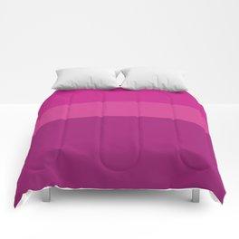 CERISE & PINK 3-TONE (Horizontal stripes) - Mix & Match Comforters