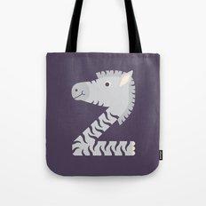 Letter Z // Animal Alphabet // Zebra Tote Bag
