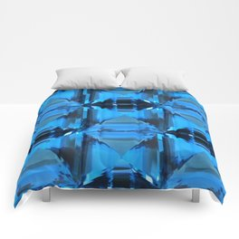 BLUE CRYSTAL GEMS PATTERN Comforters