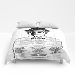 Jake Blues Brothers tattooed 'Four Fried Chickens' Comforters