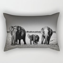 Two Females and a Baby Elephant Rectangular Pillow