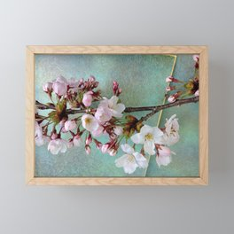 """Cherry blossoms on """"Wa-shi"""" Framed Mini Art Print"""